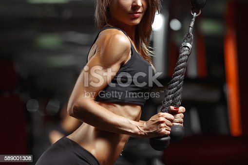 istock Fitness woman in the gym. 589001308