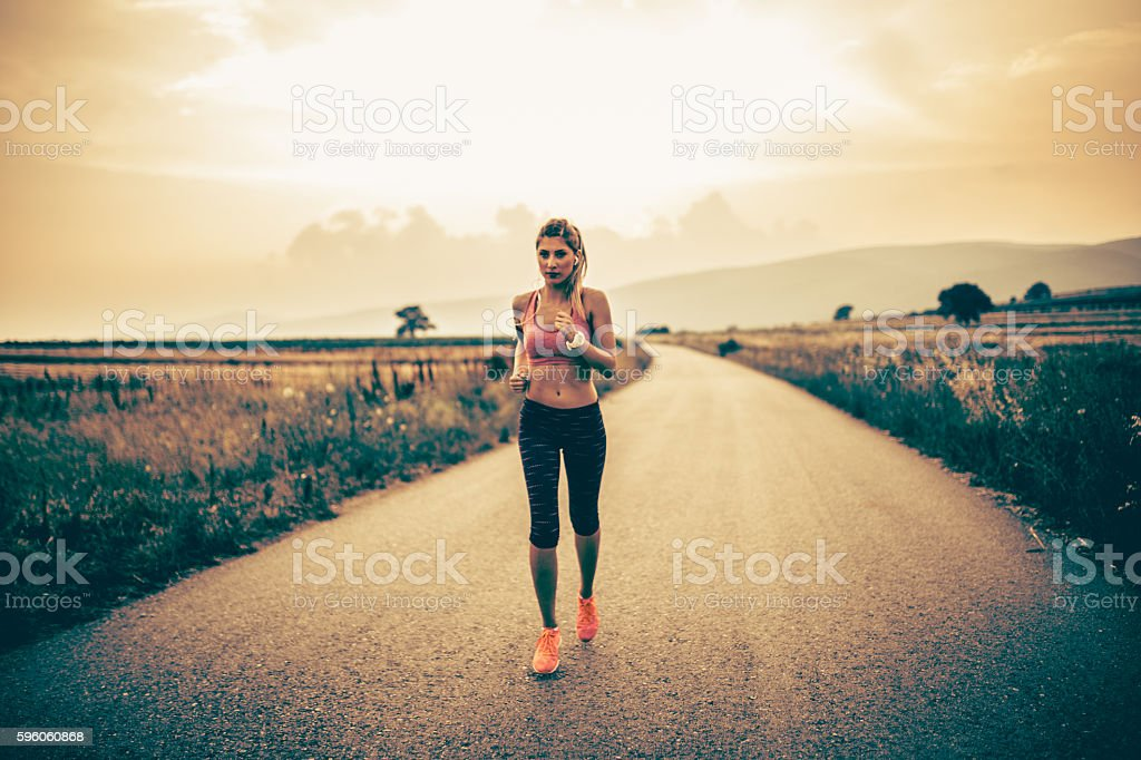 Fitness woman jogging royalty-free stock photo