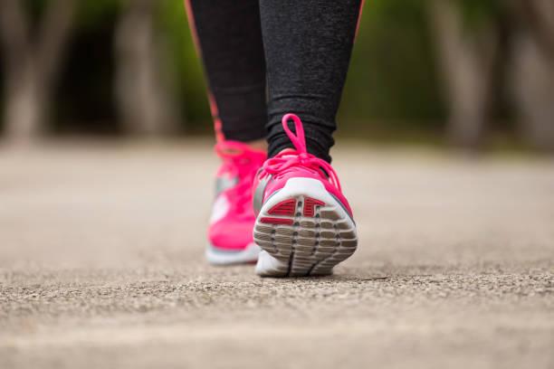 Fitness woman jogging stock photo