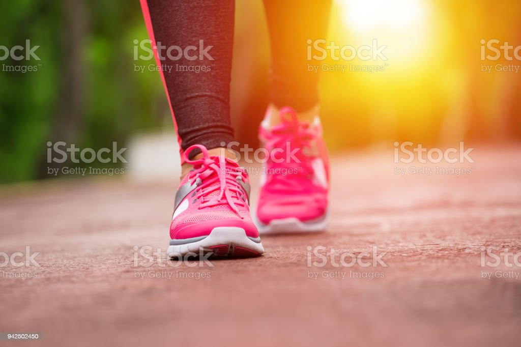 Fitness woman jogging stock photo