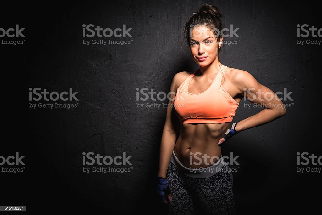 Fitness donna - foto stock
