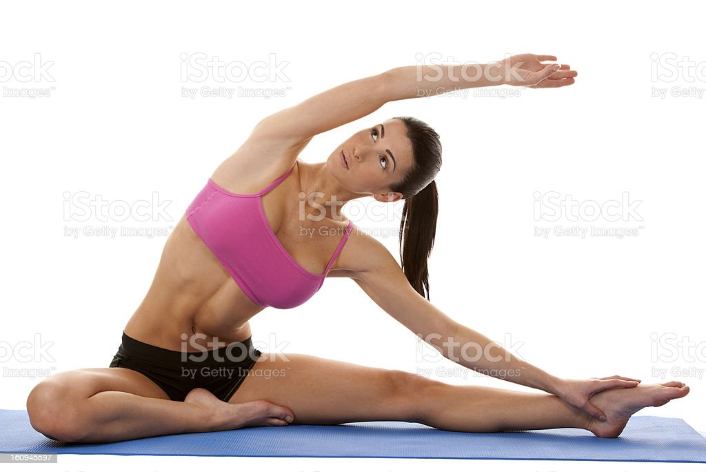 fitness woman stretching royalty-free stock photo