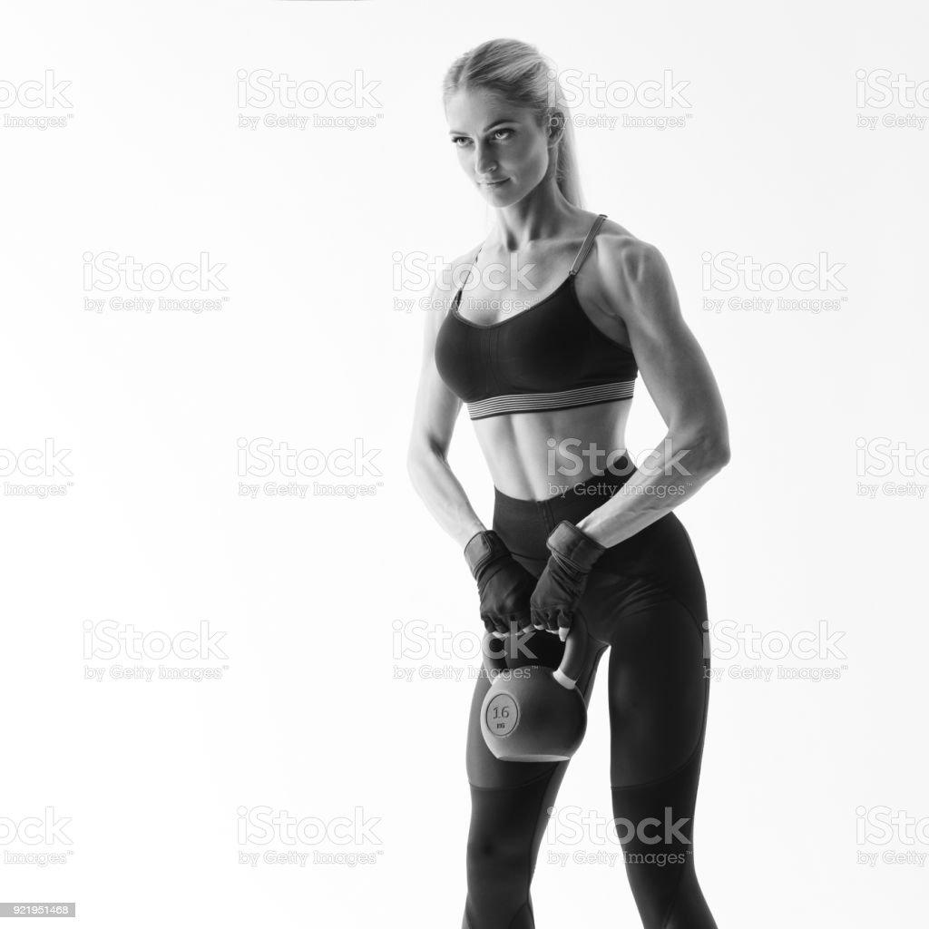 Fitness woman workout stock photo