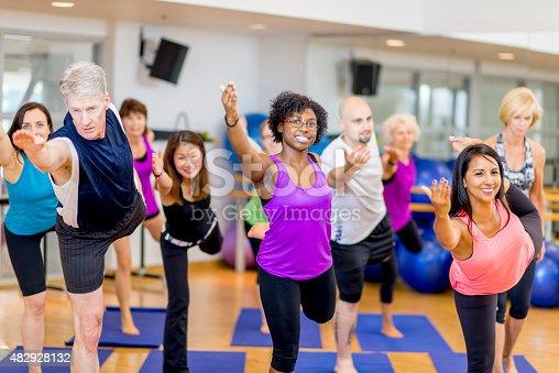 istock Fitness Yoga Class 482928132