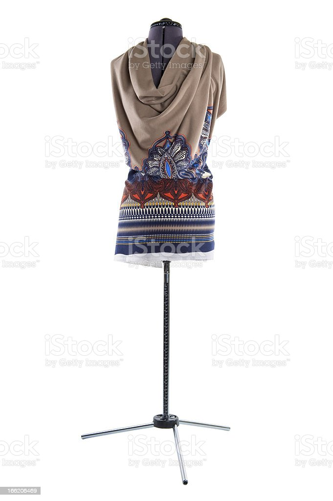 fitting material on a mannequin isolated royalty-free stock photo