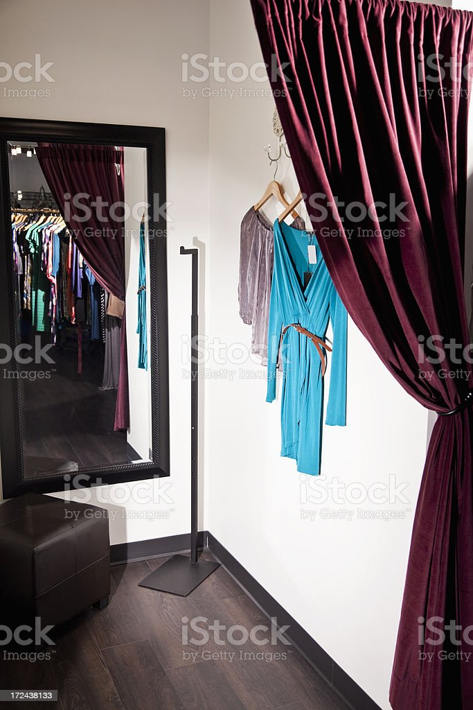 Fitting room royalty-free stock photo