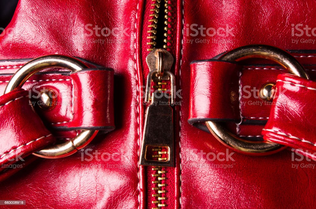 fittings on the leather hand bag foto de stock royalty-free