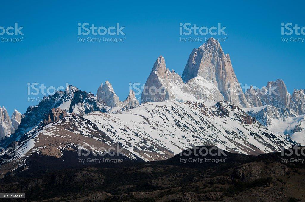 fitz roy mountain detalle en chalten argentina, 6 - foto de stock