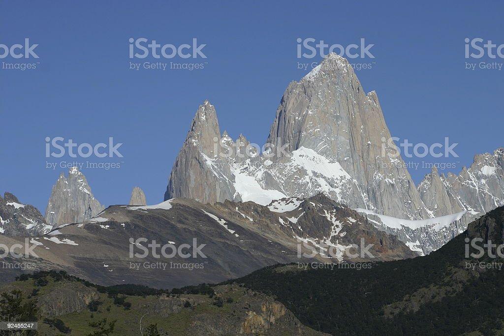 Fitz Roy mountain range royalty-free stock photo