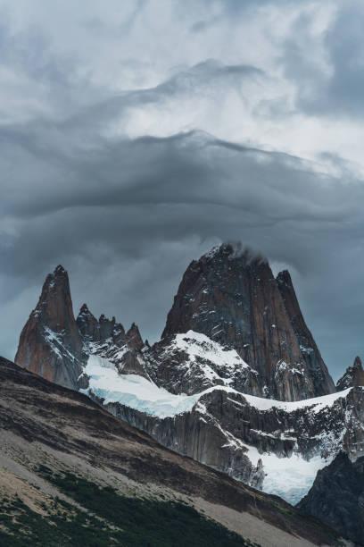 Fitz Roy Patagonia bad weather stock photo