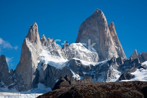fitz roy  view in a good weather day Patagonia Argentina