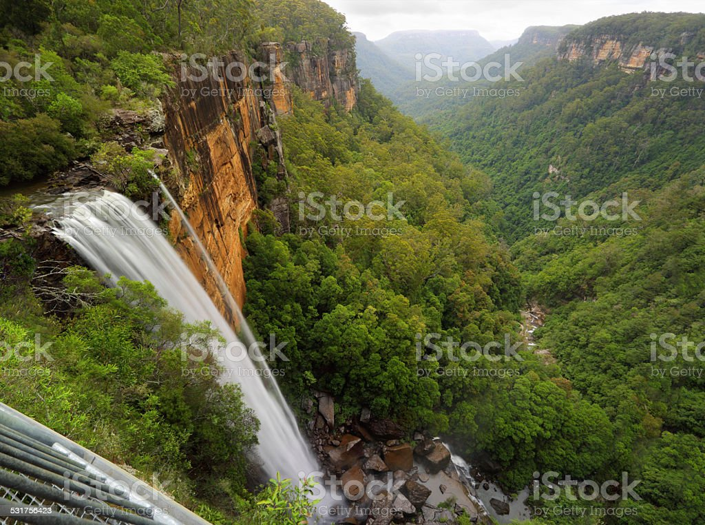 Fitzroy Falls Balcony View stock photo