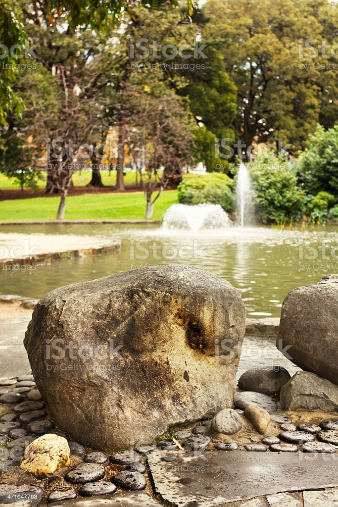 Fitzroy gardens royalty-free stock photo