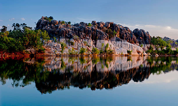 fitzroy rive and geikie gorge - western australia stock pictures, royalty-free photos & images