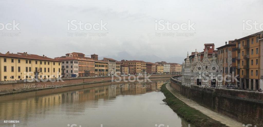 Fiume Arno stock photo