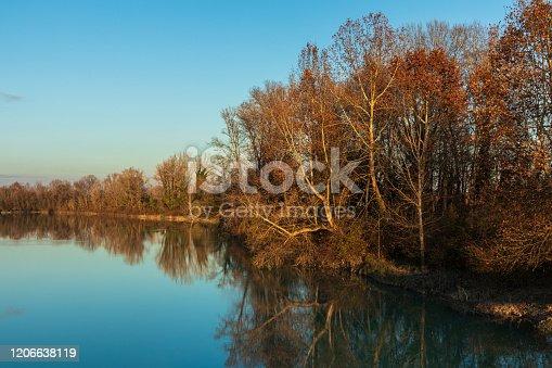 Fiume Brenta ai confini di Grantorto- San Giorgio in bosco (PD)