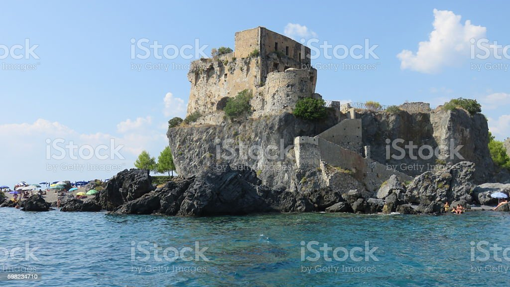 Fiuzzi tower, Praia a Mare foto royalty-free