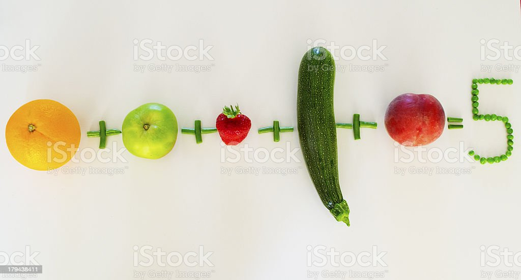 Five a Day stock photo