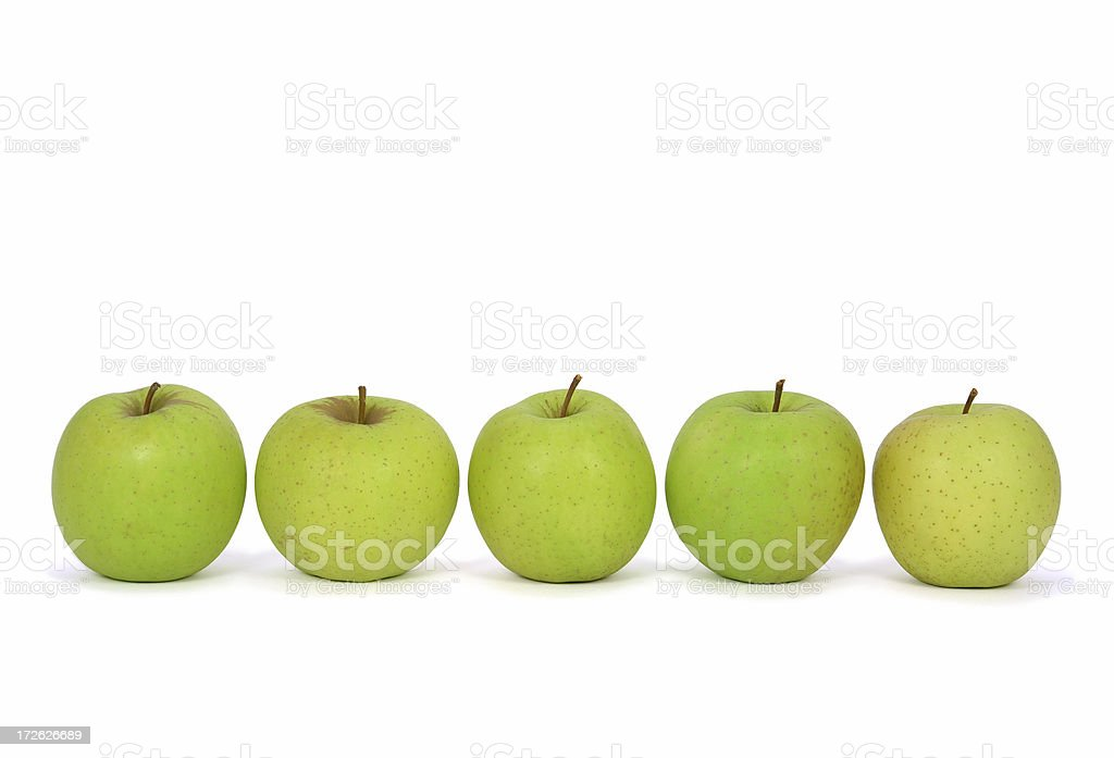 Five Apples royalty-free stock photo