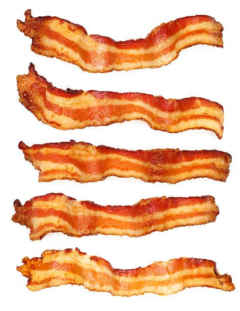 5 베이컨 슬라이스 - 베이컨 뉴스 사진 이미지