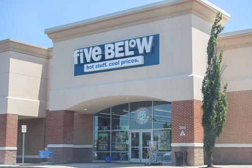 istock Five Below Retail Store. 1164242288