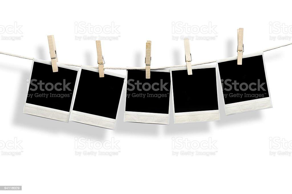 Five blank photos royalty-free stock photo