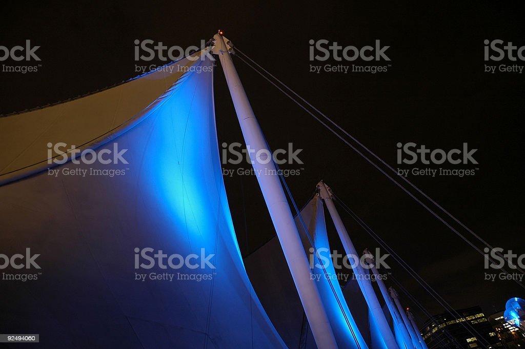 Five Blue Sails royalty-free stock photo