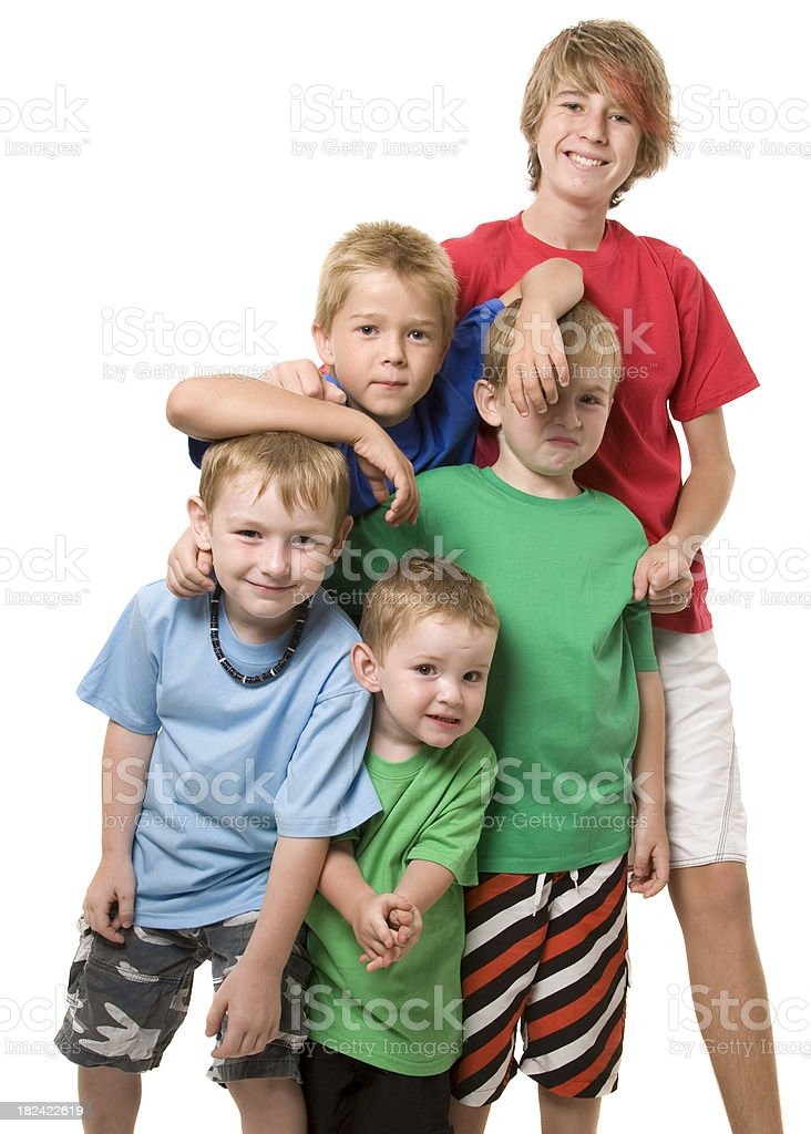 Five Boys royalty-free stock photo