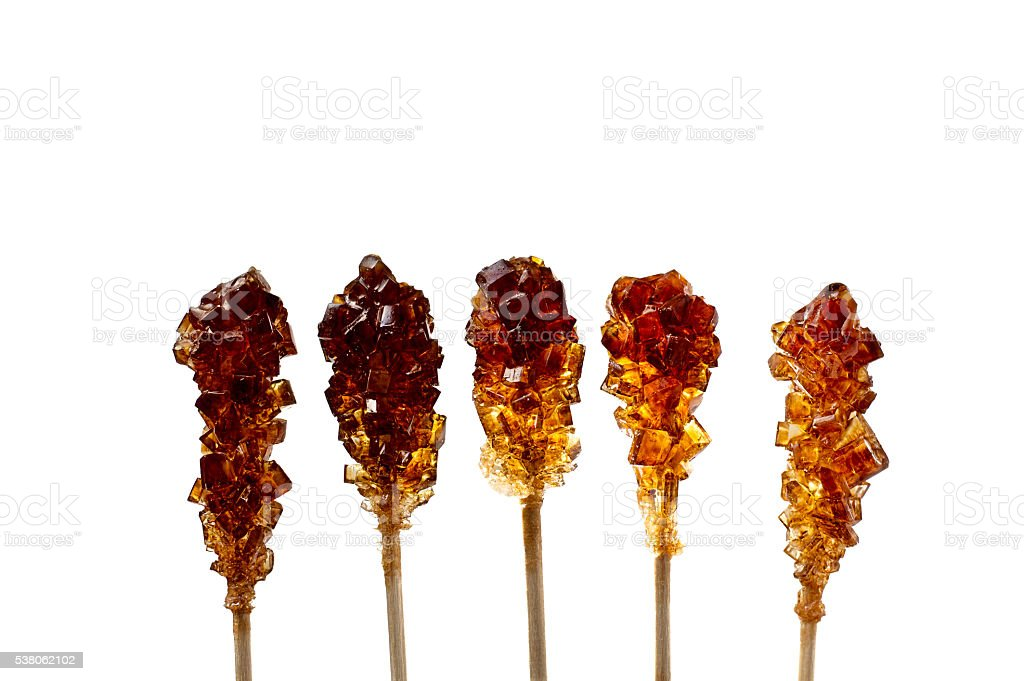 Five Brown Sugar Stirrers stock photo