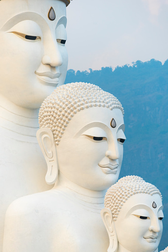 Five Buddha Statue On Wat Phasornkaew Temple Thailand Stock