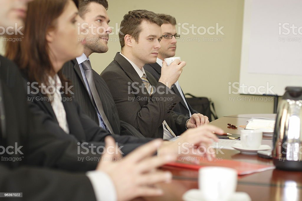 Five business people having conference - Royalty-free Adult Stock Photo