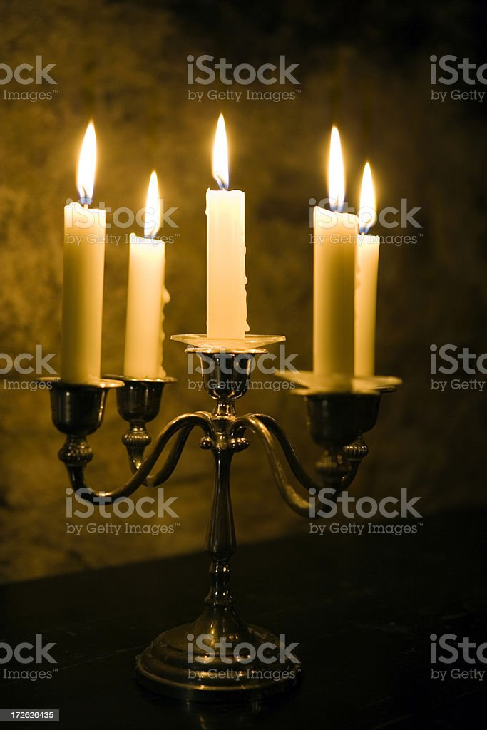 Five Candles stock photo