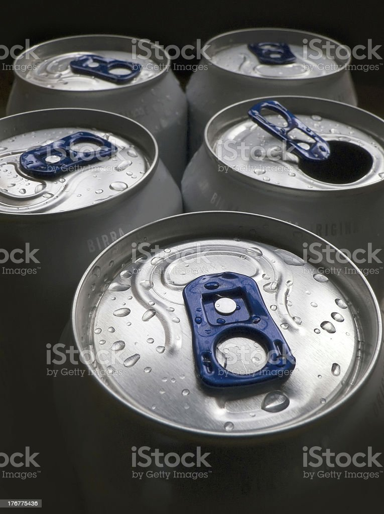 five cans royalty-free stock photo