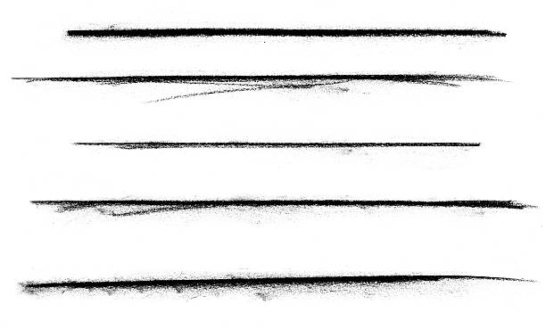 five charcoal marks - in a row stock pictures, royalty-free photos & images