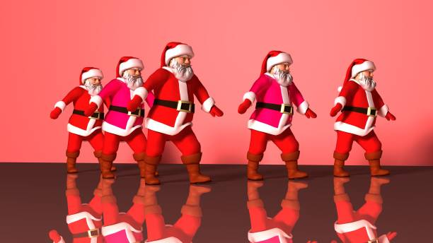 Five cheerful santa clauses in a red suit are dancing 3d rendering picture id1177289982?b=1&k=6&m=1177289982&s=612x612&w=0&h=dje4fqryogj5stod95hvcdf3x3r c6lpcjncxg0ggqi=