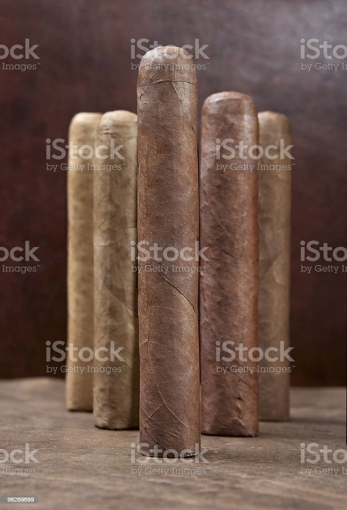 Five cigars royalty-free stock photo