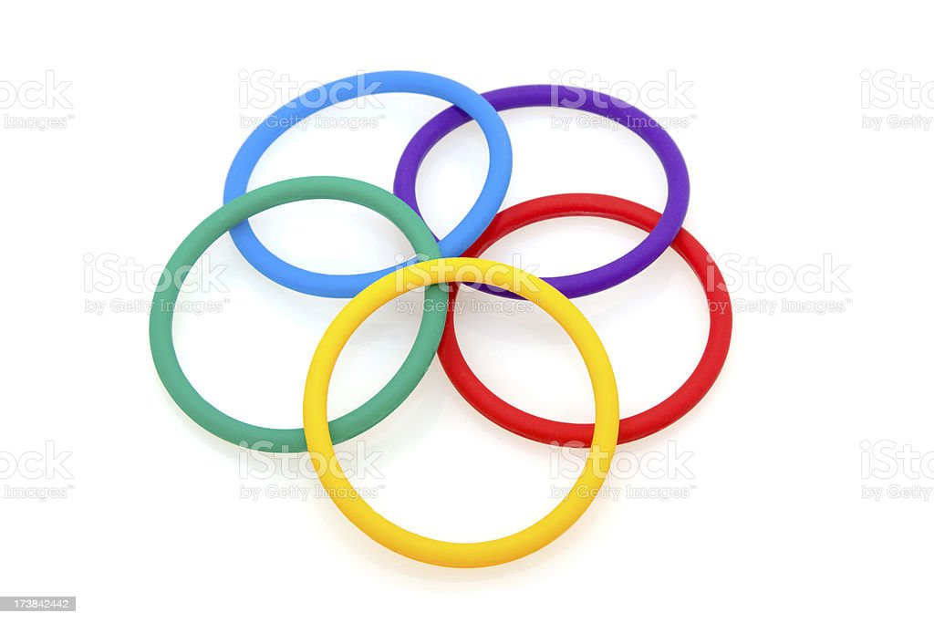 Five Colorful Rings in order royalty-free stock photo