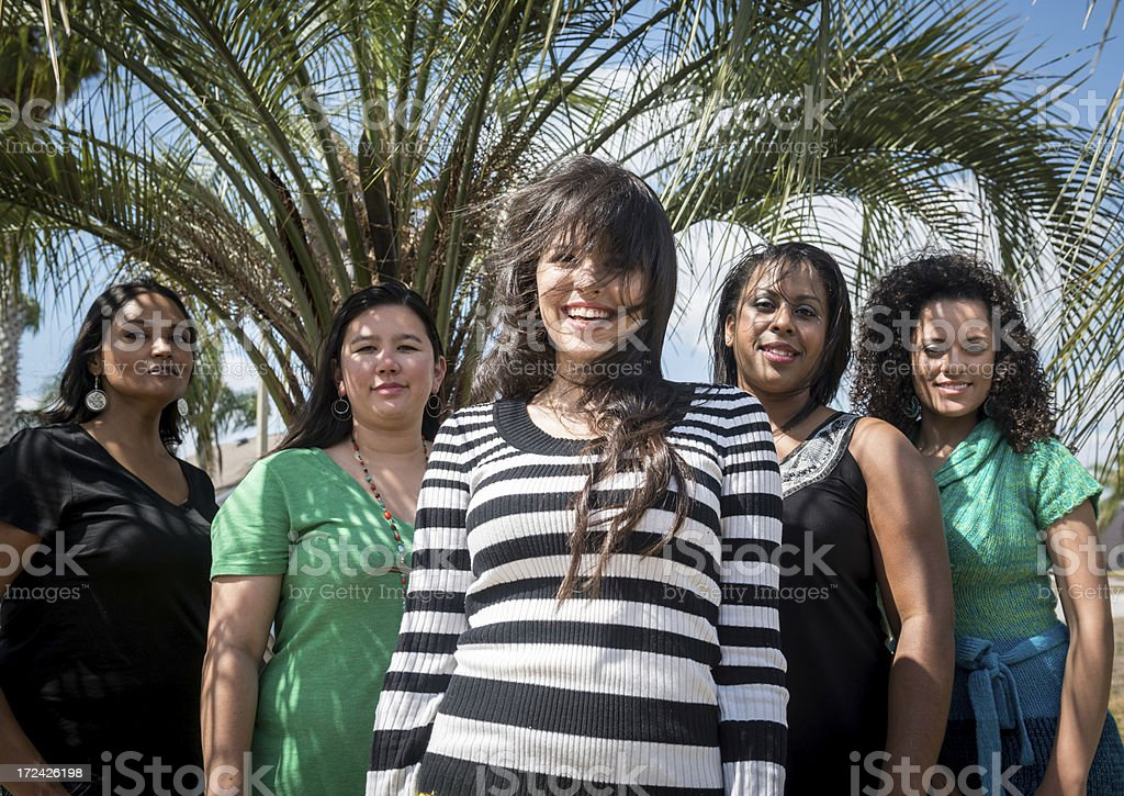 Five Diverse Women royalty-free stock photo