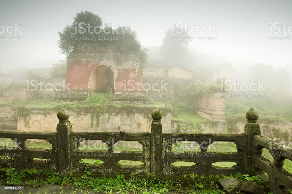 Five Dragon Temple in Wudangshan royalty-free stock photo
