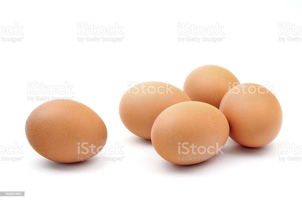 five eggs stock photo