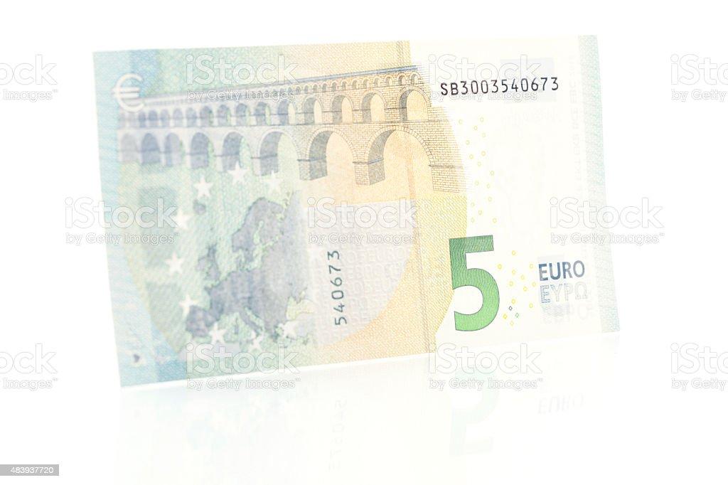 Fünf Euro beachten Sie-Rückseite – Foto