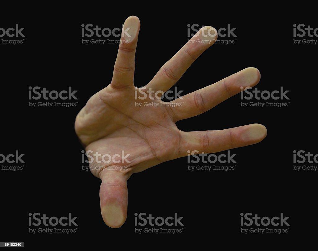 Five Fingerprints on glass royalty-free stock photo