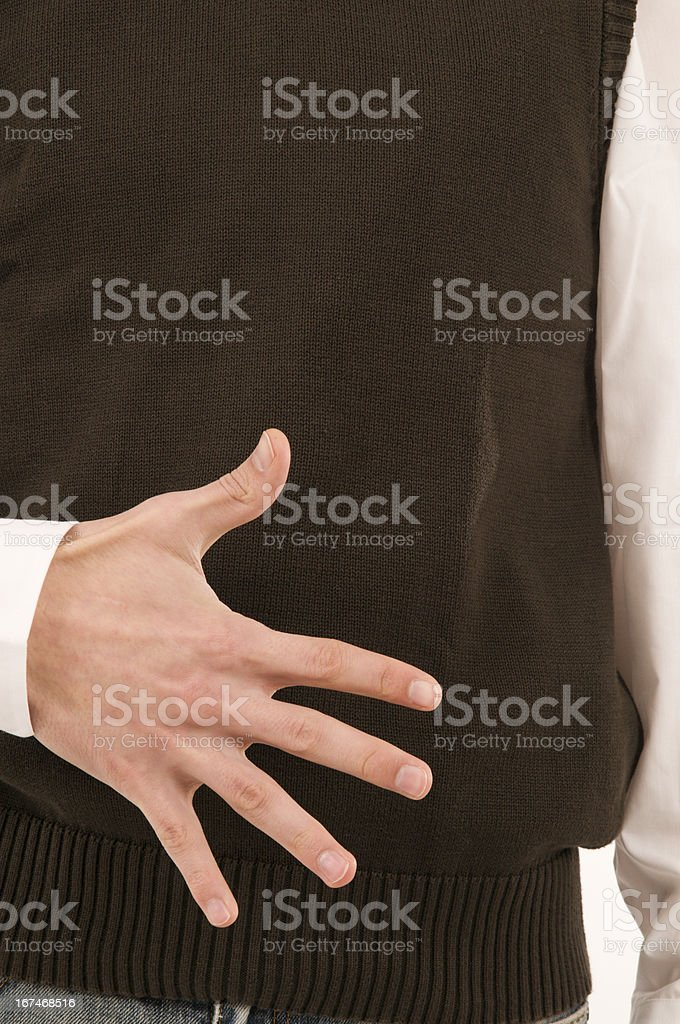 five fingers royalty-free stock photo