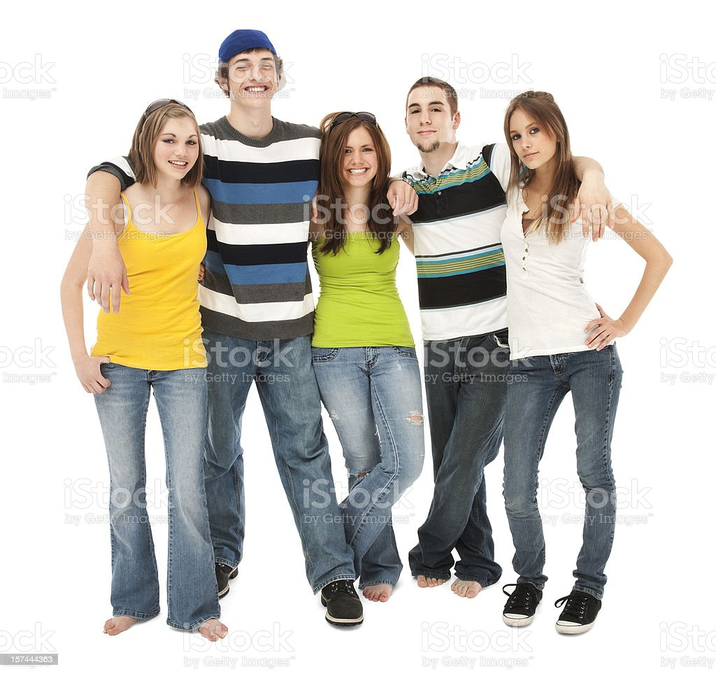 Five Friends royalty-free stock photo