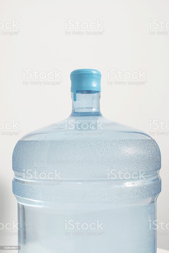Five Gallon Water Jug on Neutral Background - Close-Up royalty-free stock photo