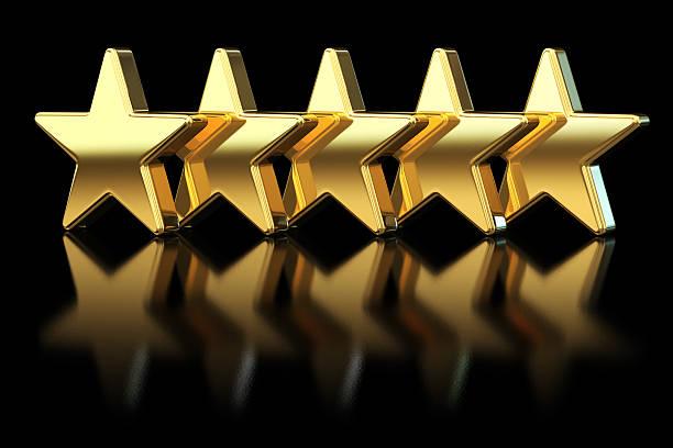 Cinq étoiles dorées - Photo