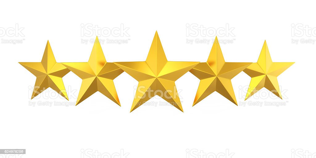 Five Golden Stars stock photo