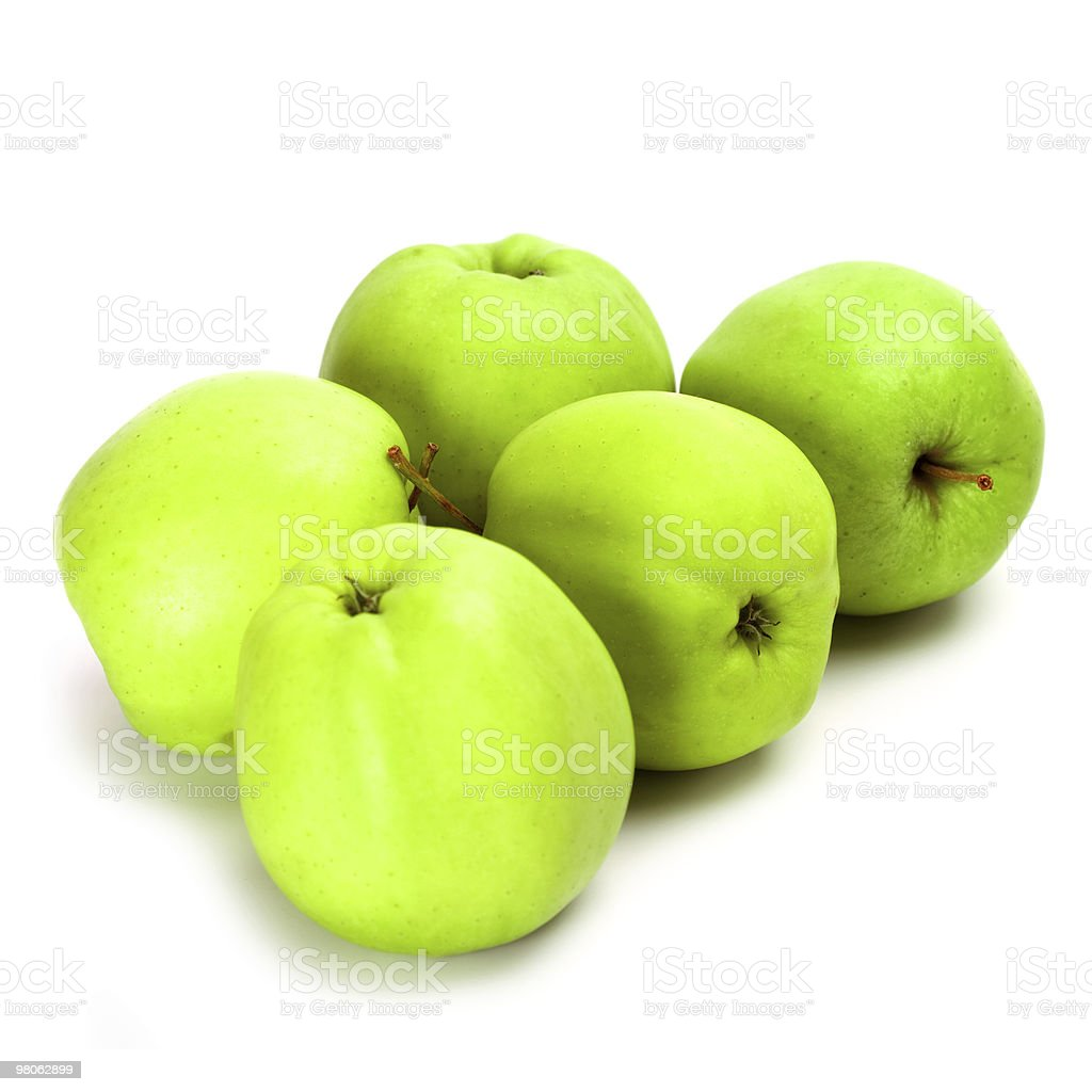 five green apples royalty-free stock photo