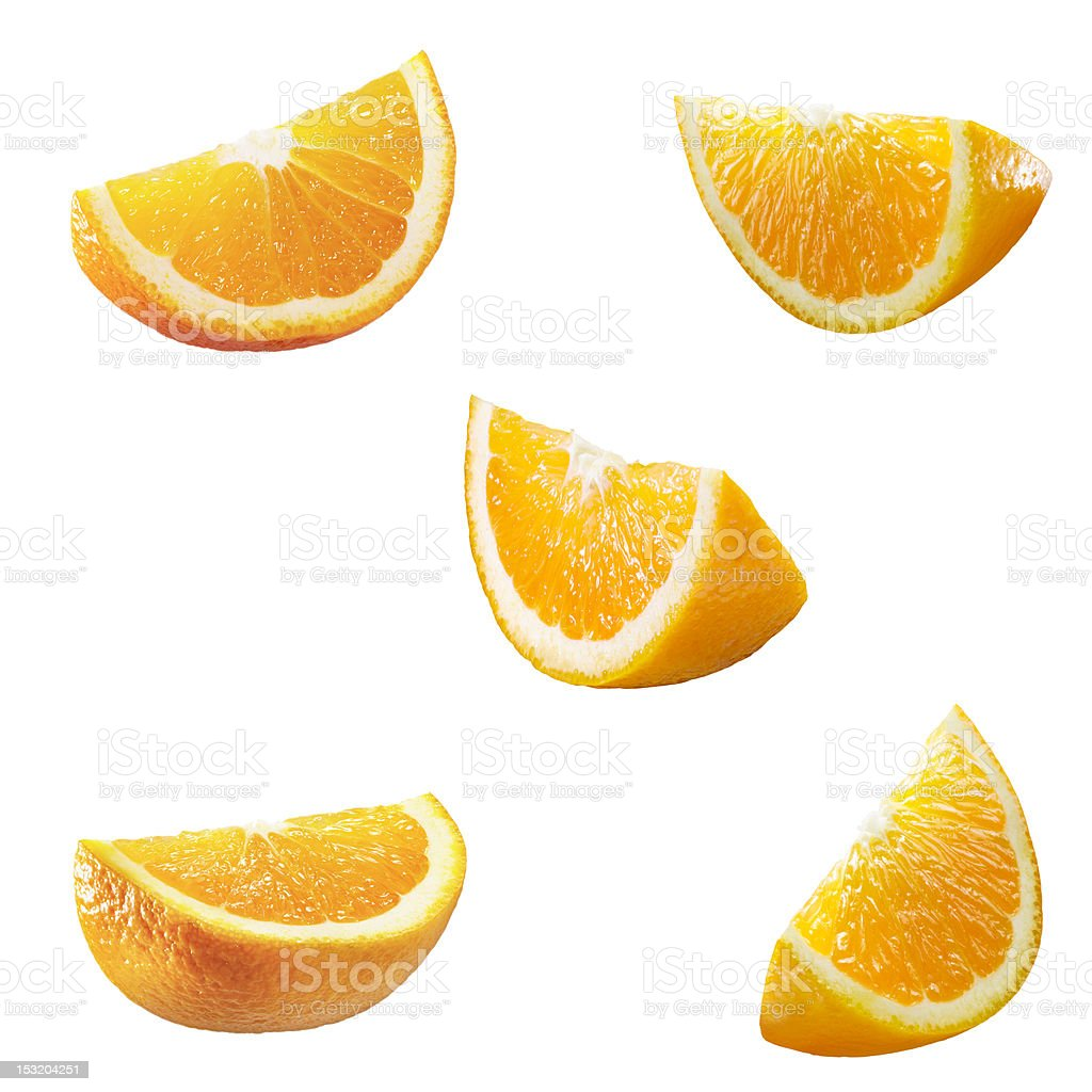 Five high res orange partitions stock photo