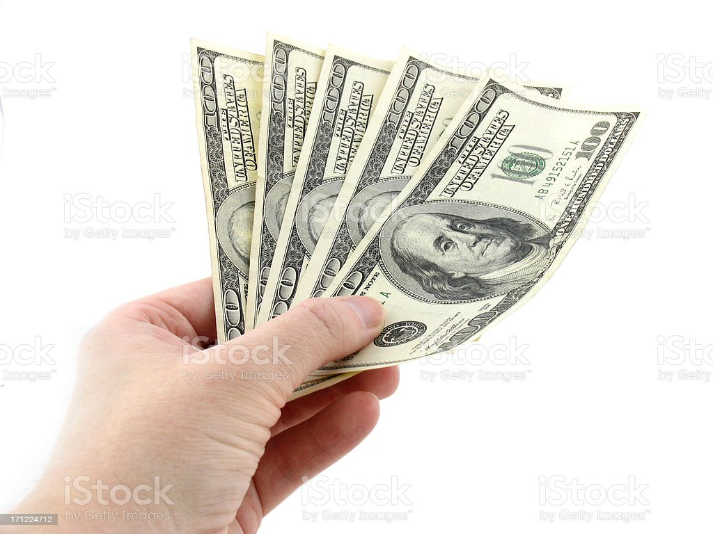 Five Hundred Dollars stock photo